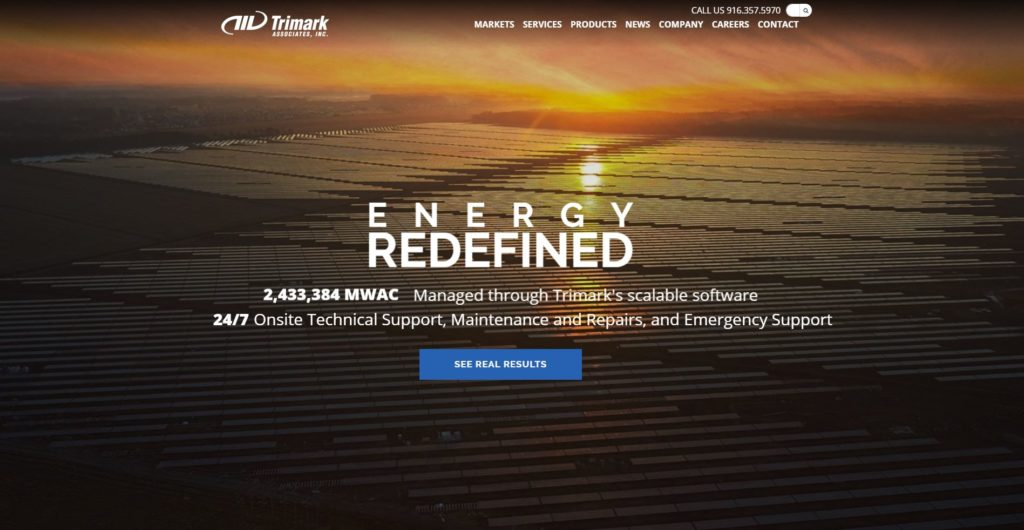 Trimark Launches New Website Showcasing Solutions for Utility-Scale PV Power Producers